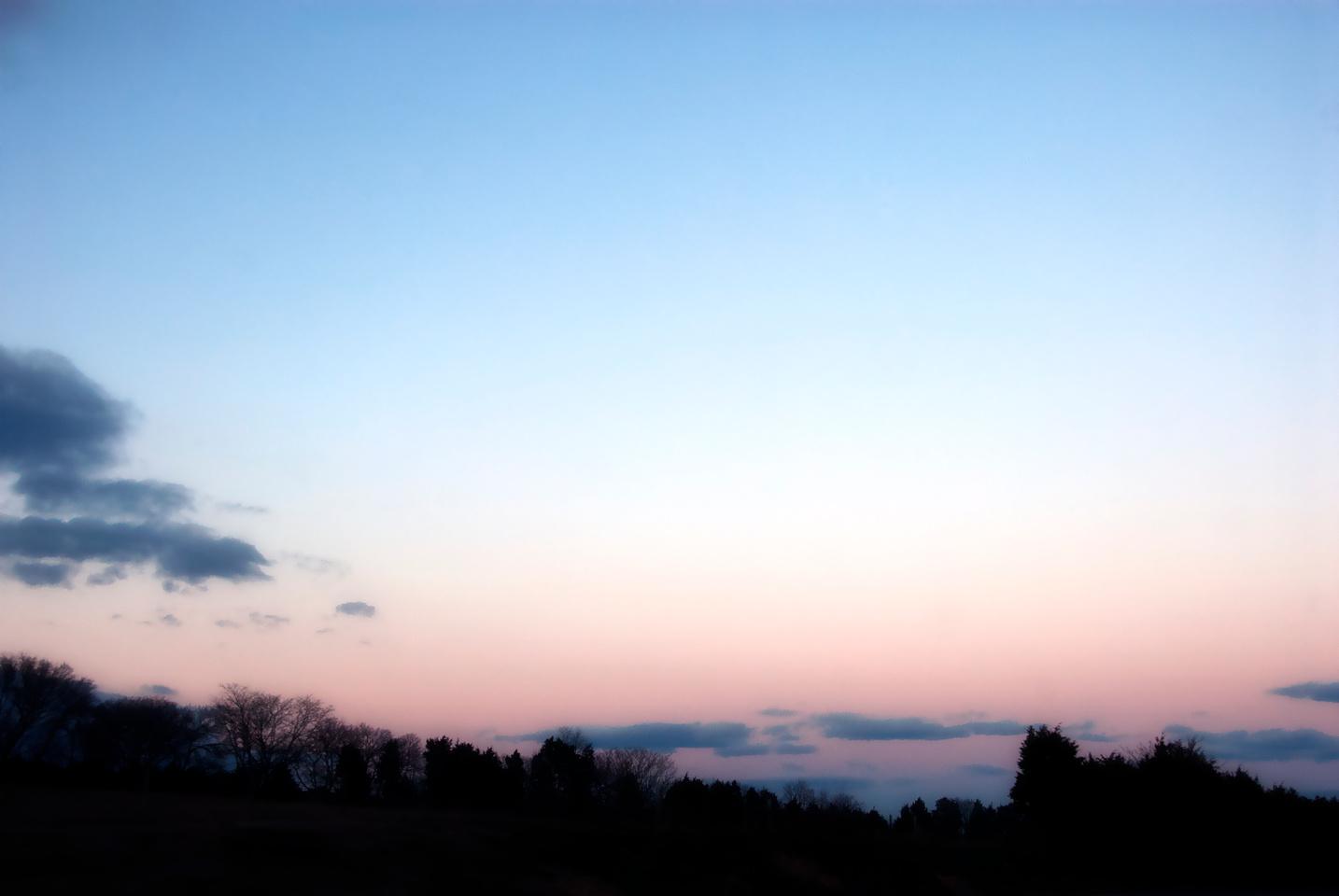 mountains sunset soft